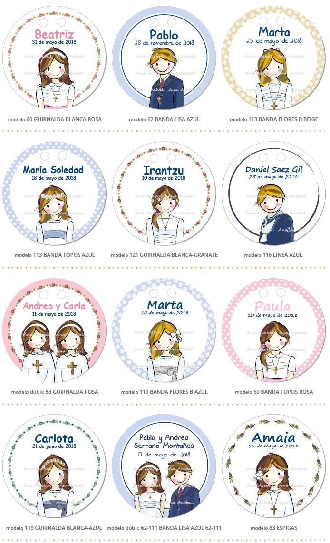 Etiquetas Comunión personalizadas niña bonitas