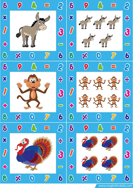Singular and plural nouns with pictures flashcards