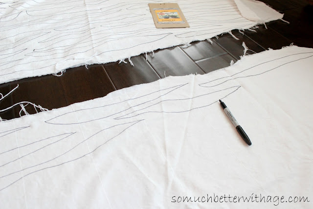 Zebra tablecloth www.somuchbetterwithage.com