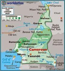 Peta Negara Kamerun
