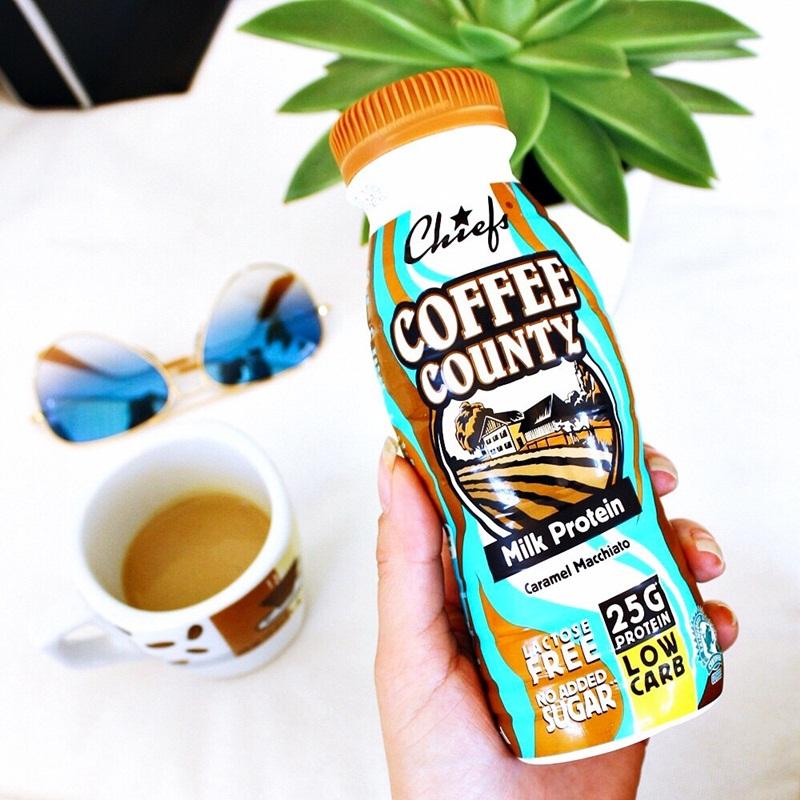 Chiefs Coffee county milk protein caramel macchiato low carb 25g protein
