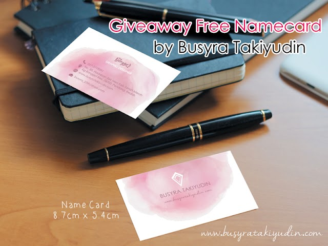 GIVEAWAY FREE NAMECARD BY BUSYRATAKIYUDIN