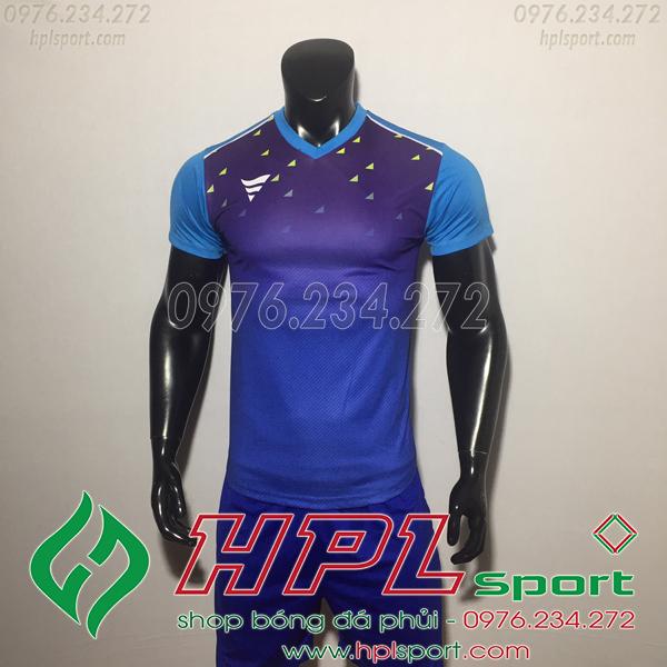 Áo bóng đá ko logo TA HAT Matic màu xanh