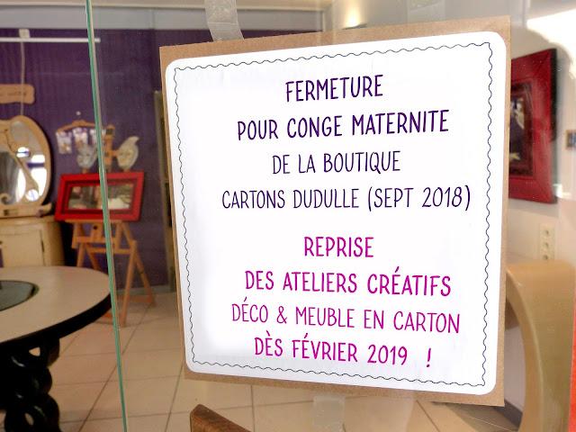 Reprise des ateliers décoration et meubles en carton par Cartons Dudulle en févreier 2019 - ALBI