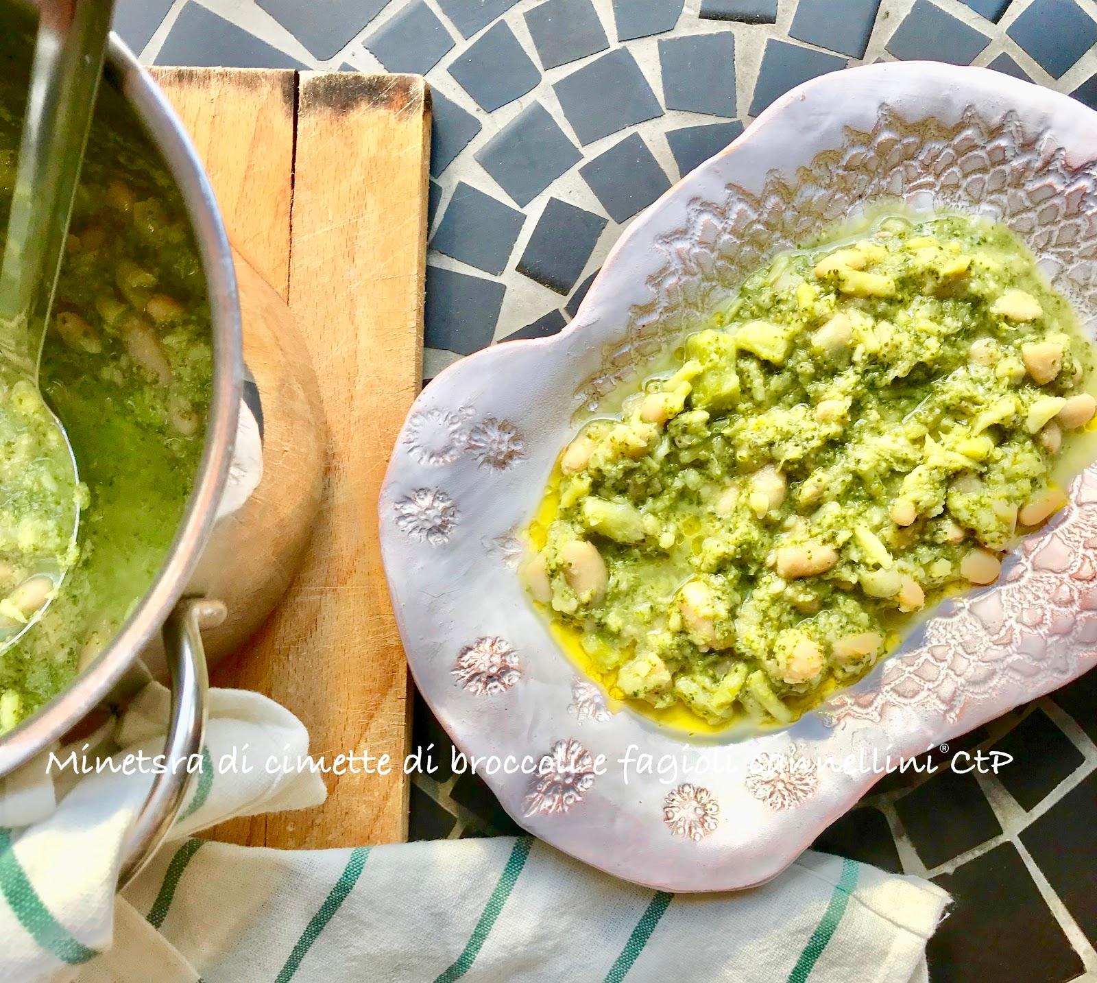 Minestra di cimette di broccoli e fagioli cannellini Alessandra ruggeri