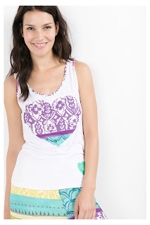 Straps Botanical Dream Desigual. Top de Pijama