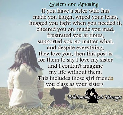 Relationship Texts Messages : Sisters are Amazing