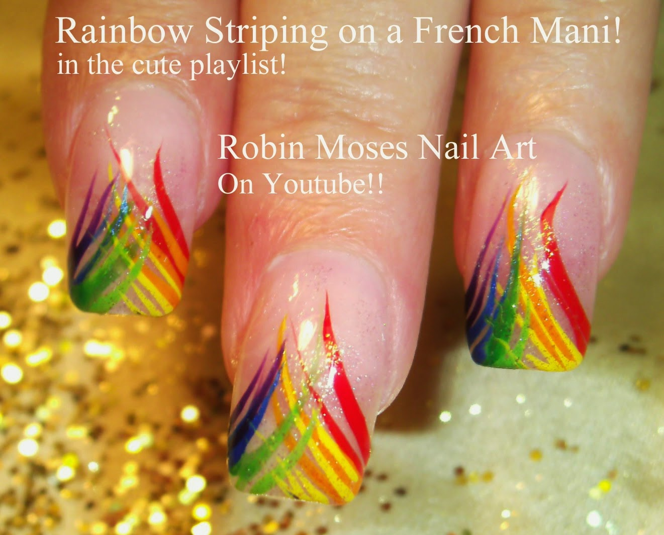 "Robin Moses Nail Art: ""rainbow nails"" ""nail art"" ""rainbow"