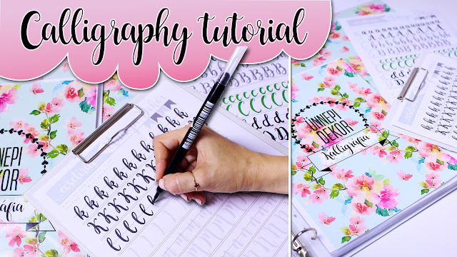 Calligraphy writing tutorial kalligráfia -  KALLIGRÁFIA SABLON LETÖLTÉS