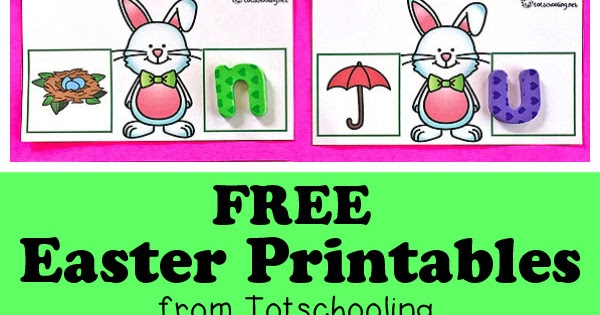 Free Easter Printables For Kids Totschooling Toddler Preschool Kindergarten Educational Printables