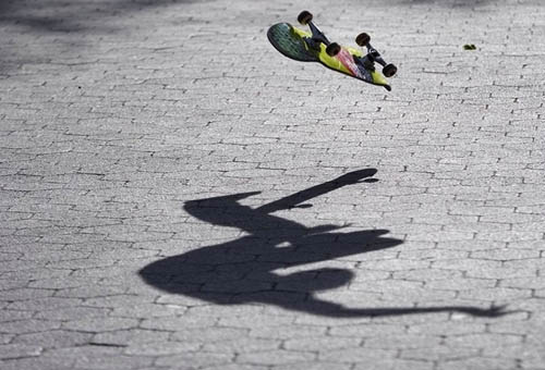 skate trick shadow