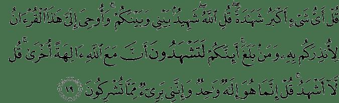 Surat Al-An'am Ayat 19