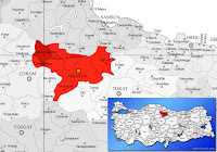 Gümüşhacıköy ilçesinin nerede olduğunu gösteren harita