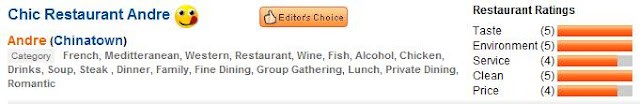 review picked as editors choice at openrice singapore