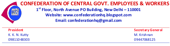CONFEDERATION OF CENTRAL GOVT. EMPLOYEES