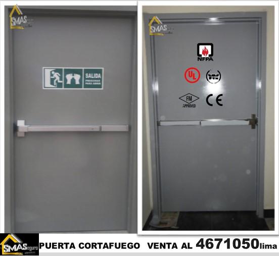 Puerta corta fuego puerta cortafuego en lima - Puerta contra incendios ...