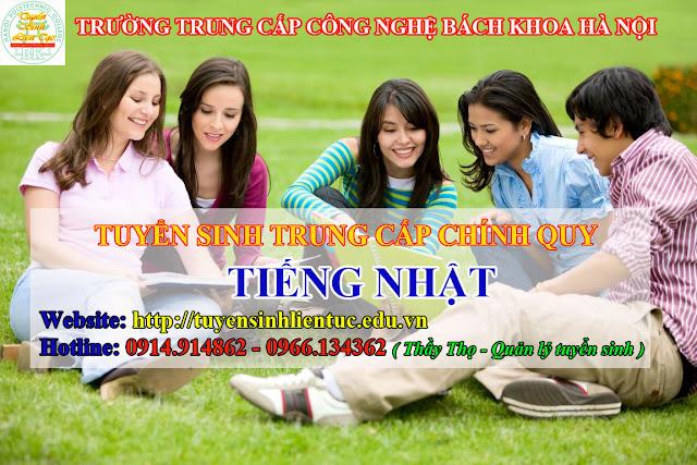 Liên tục tuyển sinh trung cấp Tiếng Nhật hệ chính quy tại Hà Nội