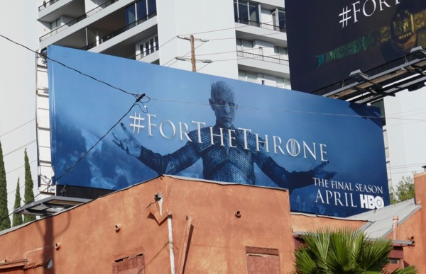 Game Thrones final season teaser Night King billboard