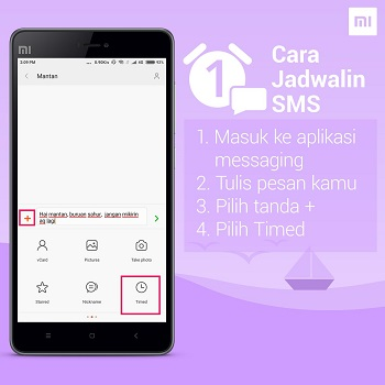Cara Mengirim SMS Otomatis Pada HP Xiaomi