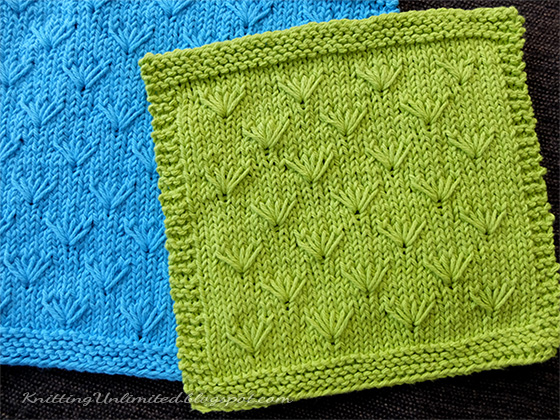 Dandelion Knitted Dischloth Pattern.