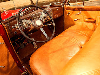 1938 Cadillac Convertible Coupe Interior