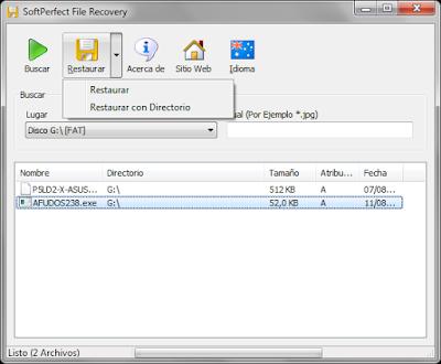 Recupera archivos borrados de tu disco duro o unidades de almacenamiento
