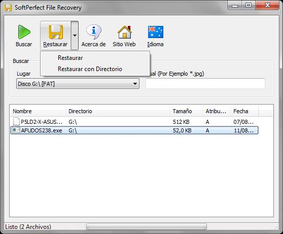 SoftPerfect File Recovery 1.2 | Recupera archivos borrados de tu disco duro o unidades de almacenamiento
