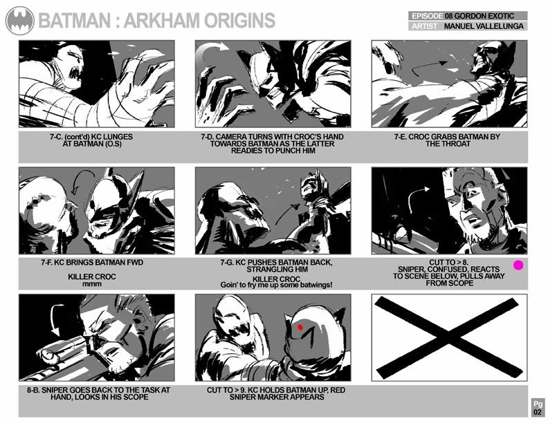 Batman Arkham Origins, Storyboards - EP8_Gordon Exotic -- SPOILER