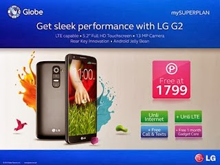 LG G2 with Unli LTE free at Globe Plan 1799