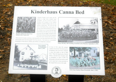 Kinderhaus Canna Bed in Hershey Pennsylvania Historical Marker