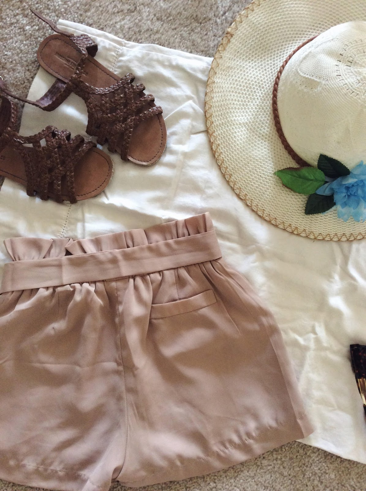zaful review tan shorts