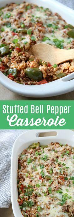 Stuffed Bell Pepper Casserole