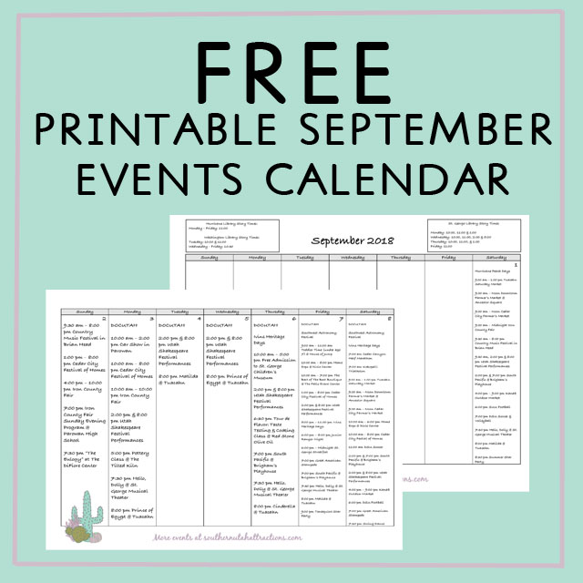 southern utah attractions september calendar of events free rh southernutahattractions com free printable event flyer templates event planning template free - Free Printable Event Flyer Templates