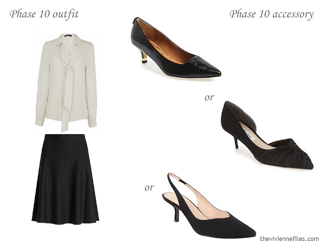 what shoes to wear with a black skirt?