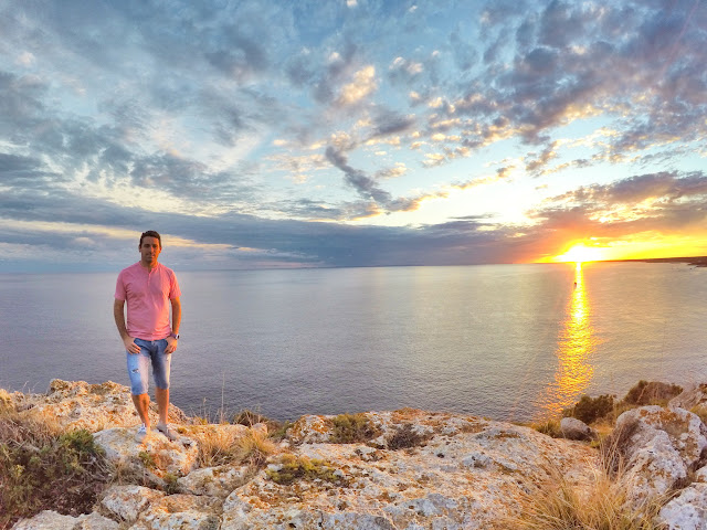 Puesta de sol junto a la Playa de Son Bou