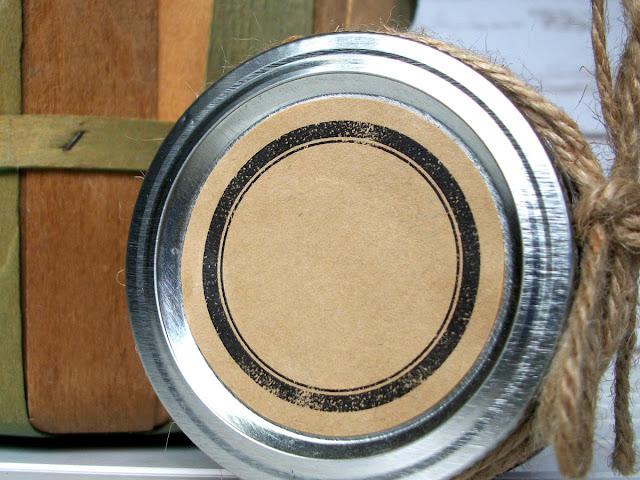 rustic black kraft canning jar labels