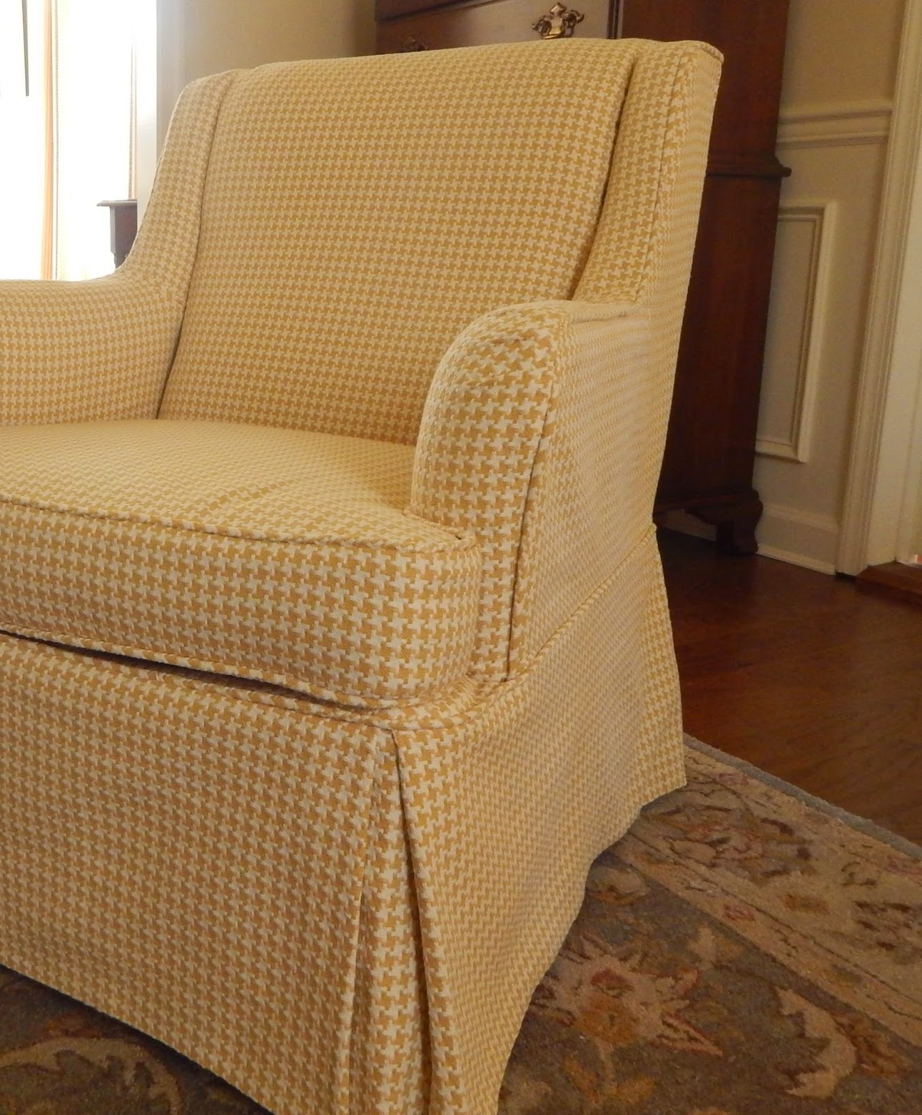 Club Chair Slipcover Ball Office Chairs Pam Morris Sews Houndstooth