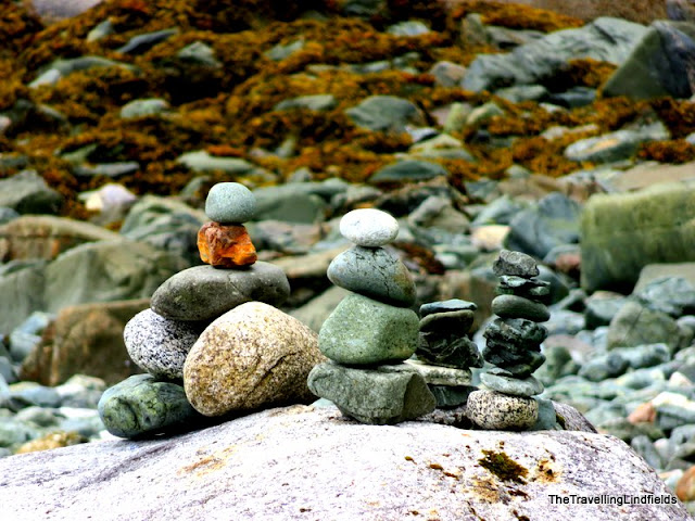 Rock Cairns at Auke Lake, Juneau Alaska