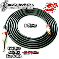 Kabel Gitar 3 Meter Jack Akai Mono To RCA
