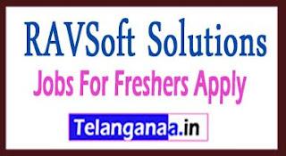 RAVSoft Solutions Recruitment 2017 Jobs For Freshers Apply
