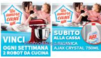Logo ''Un Amore di casa con Ajax'' vinci 20 Robot da cucina Artisan Kitcheaid e un premio sicuro per tutti!