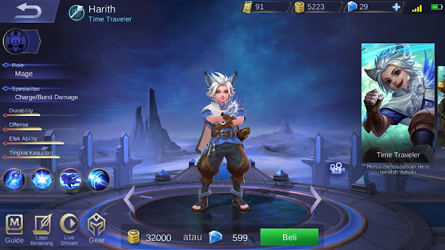 Mage Terkuat di Mobile Legends Season 11 Harith