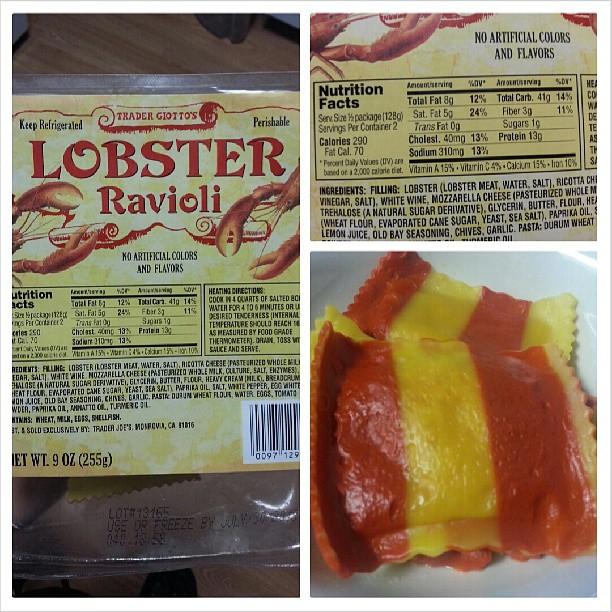 Whole Foods Lobster Ravioli