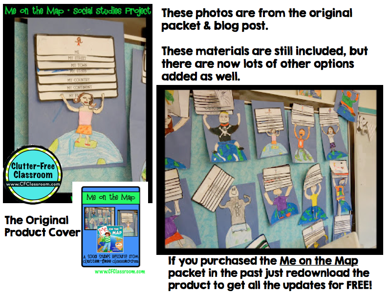 Me On The Map Activities And Printables Classroom Project