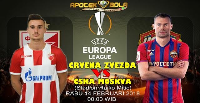 Prediksi Crvena Zvezda vs CSKA Moscow 14 Februari 2018