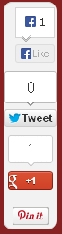 Floating Social Bookmarking Widget 2013
