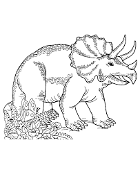 Triceratops Coloring Page For Print