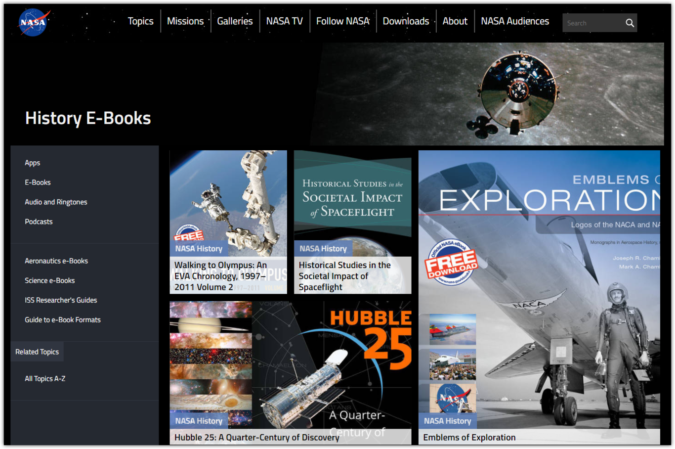 Descarga Libros Gratuitos Descargá Los Ebooks Gratuitos De La Nasa Sobre Historia