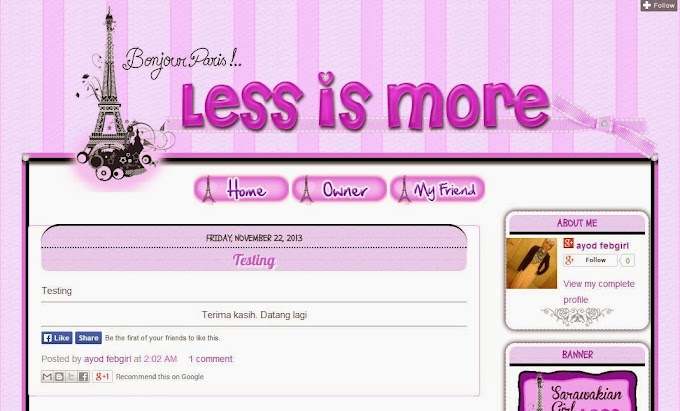 Tempahan Design Blog: Blog Rabiatuadawiyah