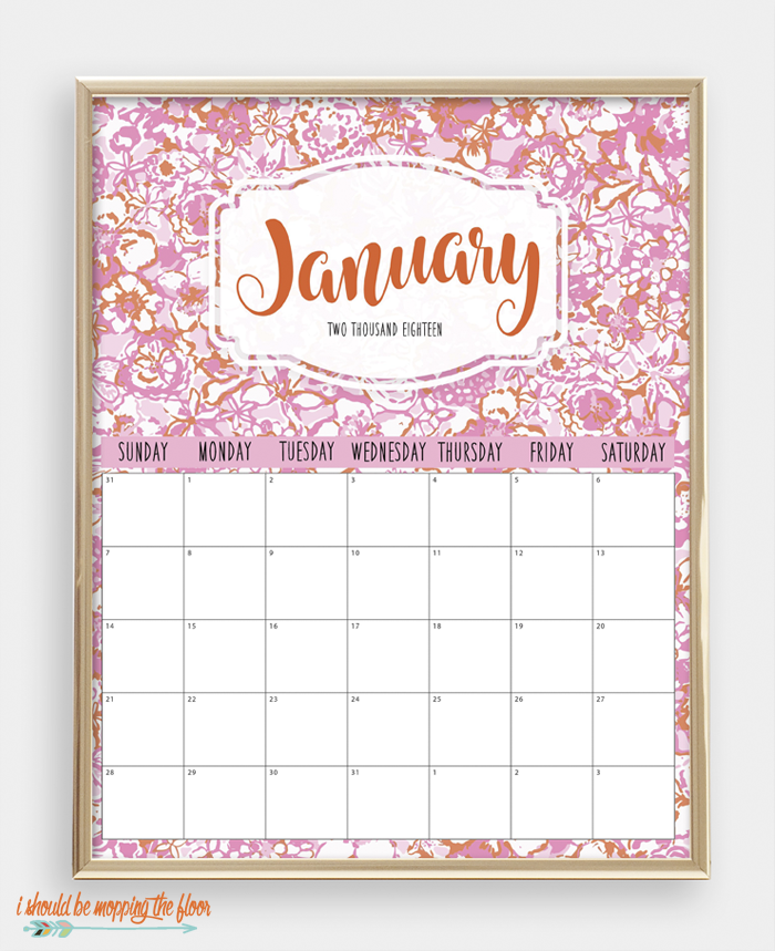 Bright, Bold, Fun, and Colorful 2018 Printable Calendar | 8x10 sizes